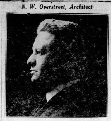 N.W. Overstreet, Architect Daily Clarion-Ledger Jackson, MS Oct. 14, 1923