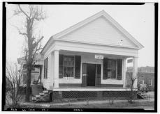 FRONT (NORTH) ELEVATION - Law Office, Planters & Water Streets, Camden, Wilcox County, AL. Alex Bush, HABS Photographer, January 8, 1937