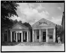 MEASURED STRUCTURE AND ADJOINING BUILDING - Lawyers' Row, Saint Helena Street & Liberty Road, Clinton, East Feliciana Parish, Louisiana. Richard Koch, HABS Photographer August, 1936