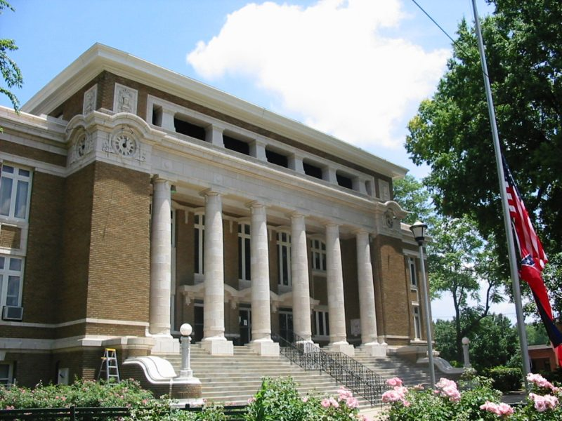 n w overstreet designed alcorn county courthouse centennial on