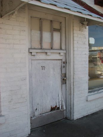 Cities Service Station (former), 112 S. Maple St., Aberdeen, MS - Front Entrance; March 11, 2010; W. White, photographer