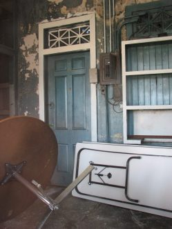 Gulf Oil Gas Station (Former), 201 E. Commerce St. (SE Corner of E. Commerce St. and S. Maple St.), Aberdeen, MS - Interior; March 11, 2010; W. White, photographer