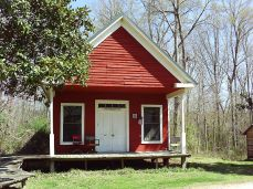 Old French Camp Post Office; Photograph by WhisperToMe, taken July 4, 2010, Public Domain