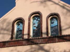 St. Francis of Assisi Catholic Church, 108 S. James St., Aberdeen, MS - Stained Glass; March 11, 2010; W. White, photographer