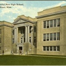 From Biloxi's beautiful new high school, Biloxi, Miss. Sysid 94259. Scanned as tiff in 2007/12/20 by MDAH. Credit: Courtesy of the Mississippi Department of Archives and History