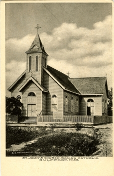 From St. John's Church, Roman Catholic, Gulfport, Miss. Sysid 94125. Scanned as TIFF in 2007/12/05 by MDAH. Credit: Courtesy of the Mississippi Department of Archives and History.