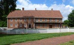 Single Brothers House, Old Salem, NC (1769, half-timbered original; 1789, brick addition).