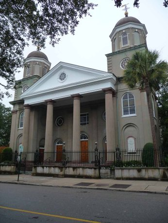 First (Scots) Presbyterian Church, 57 Meeting Street (c.1814, renovated 1887, 1945, 1987)