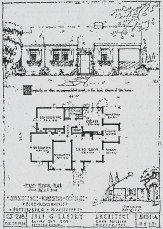 """Hattiesburg Homesteads, 5-room unit (Juan G. Landry, archt.) """"Simplicity, so often an unappreciated asset, is the basic charm of this home"""""""