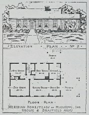 Meridian Homesteads, Plan No. 2 (Krouse & Brasfield, archts)